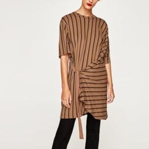 Zara Stripe Side Buckle Dress
